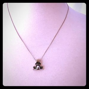 Jewelry - 14k white gold kissing frog necklace